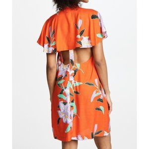 NWT DVF Clementine Argos Open Back Floral Dress XS